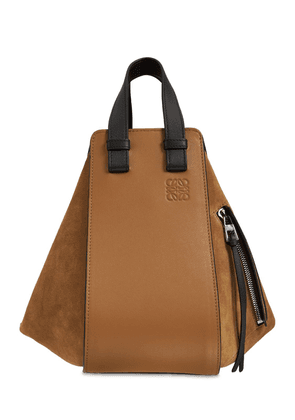 Small Hammock Suede & Leather Bag