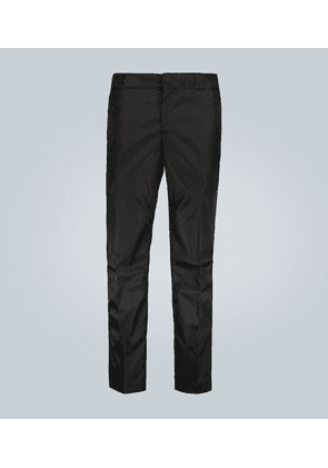 Technical casual pants with logo