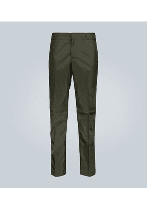 Technical fabric pants with logo
