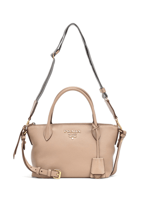 Logo Small leather tote