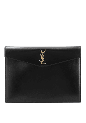 Uptown Large leather clutch