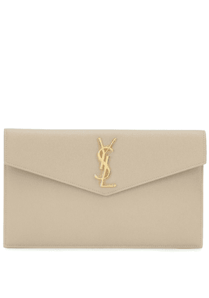 Uptown leather clutch