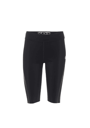 High-rise stretch-jersey shorts