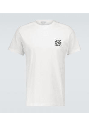 Anagram embroidered cotton T-shirt