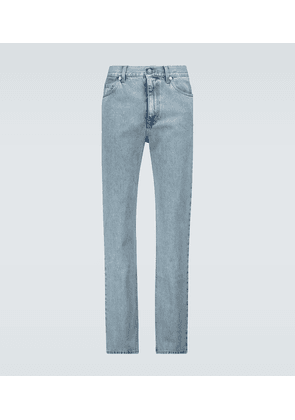 Regular-fit stone-bleached jeans