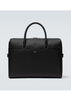 Duffle leather briefcase