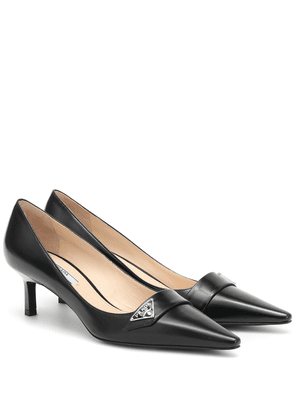 55 leather pumps