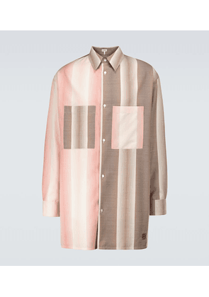 Oversized contrasting striped shirt
