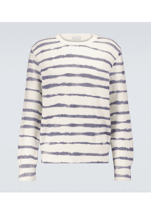 Wool and cashmere striped sweater