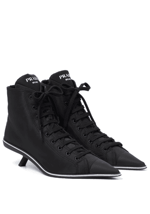 Nylon ankle boots