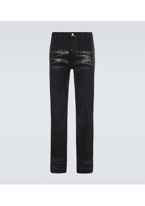 Coated slim-fit jeans
