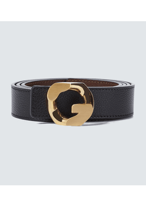 Reversible G Chain leather belt