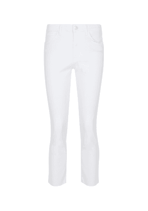 W3 straight-leg cropped jeans