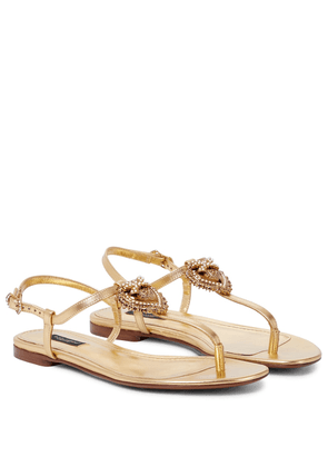 Devotion leather thong sandals