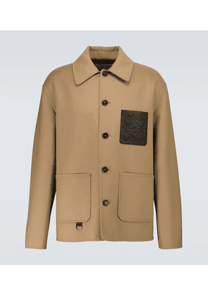 Wool and cashmere workwear jacket