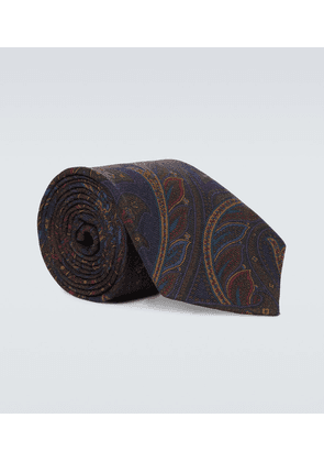 Cashmere and silk printed tie