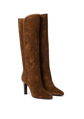 Jane 90 suede knee-high boots