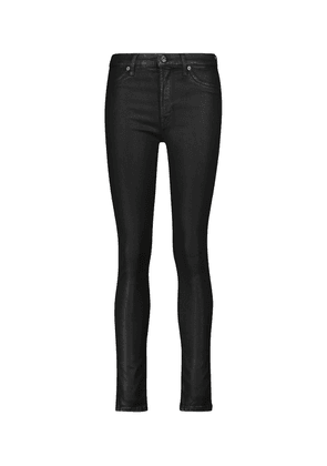 Slim Illusion coated high-rise skinny jeans