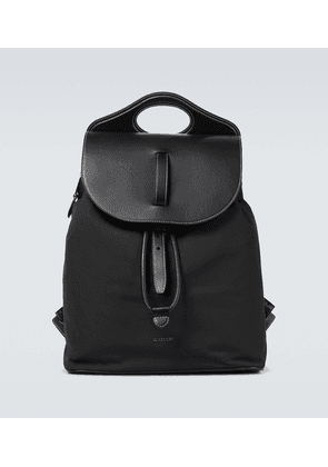 Nylon and leather Pocket backpack