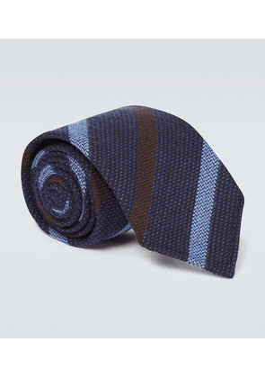 Wool and silk striped tie