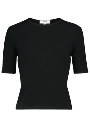 Relaxed stretch-jersey T-shirt
