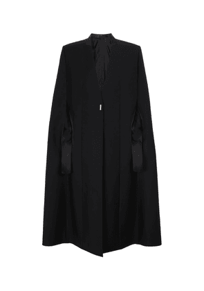 Wool and mohair cape