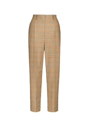Sidney high-rise wool and cotton-blend pants