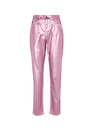 Grace laminated high-rise jeans