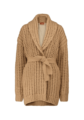 Haines merino wool and camel hair-blend cardigan