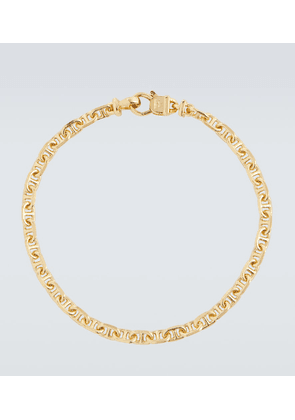 Cable gold-plated sterling silver bracelet