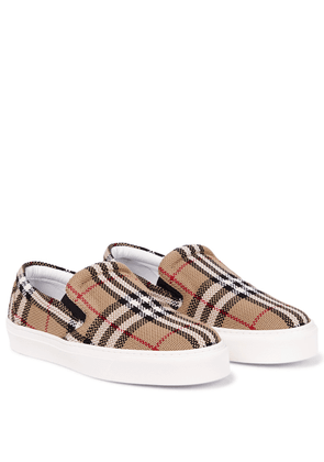 Vintage Check cotton slip-on sneakers