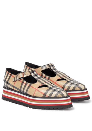 Aldwych checked leather loafers