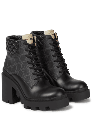 GG Supreme and leather ankle boots