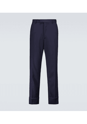 Straight-fit wool-blend pants