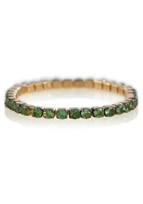 Thread 18kt gold ring with green garnets
