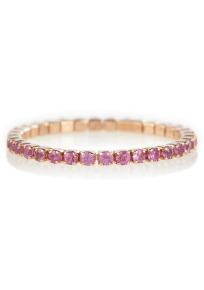 Thread 18kt rose gold ring with pink sapphires