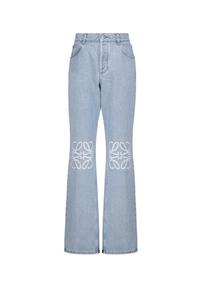 Anagram high-rise wide-leg jeans