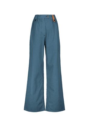 Cotton and linen flared pants
