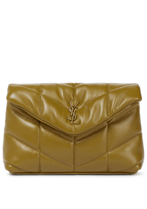 Loulou Puffer leather clutch