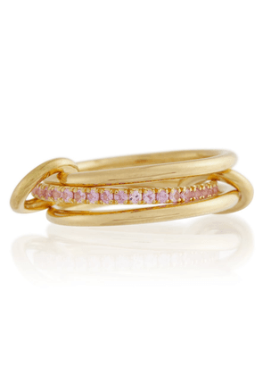 Exclusive to Mytheresa – 18kt yellow gold ring with sapphire