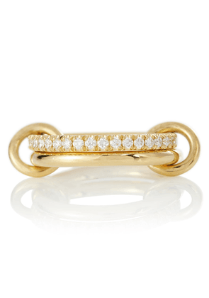 Ceres Deux 18kt yellow gold ring with diamonds