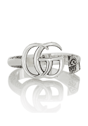 Double G sterling silver ring