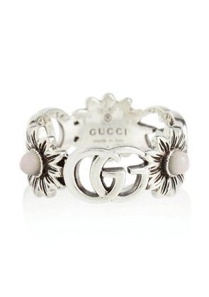 GG Marmont sterling silver ring with pearls