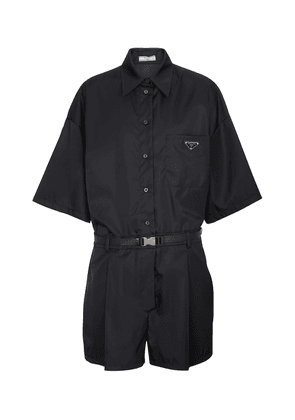 Re-Nylon belted logo playsuit