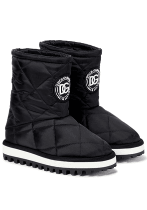 City quilted nylon ankle boots