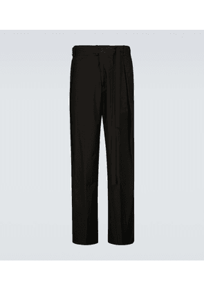 Laced single-pleated pants