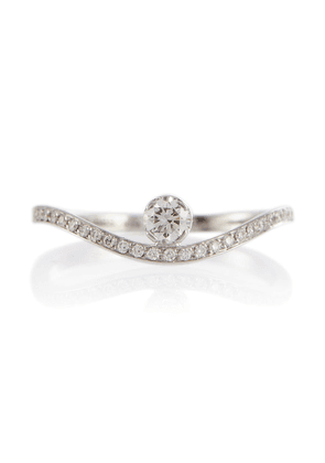 Grace Diamant Blanc 18kt white gold ring with diamonds