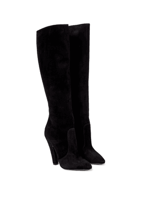 68 110 suede knee-high boots