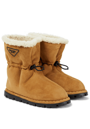 Blow shearling-lined suede snow boots