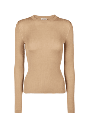 Cashmere, wool, and silk top